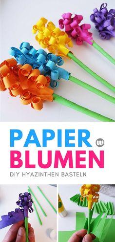 Hyazinthen aus Papier basteln: DIY Blumen für den Frühling Eine schöne Bastelidee für den Frühling sind Hyazinthen aus Papier. In meiner DIY Anleitung zeige ich Schritt-für-Schritt wie man einen Hyazinthen Blumenstrauß bastelt. #basteln #Blumenstrauß #Blumen #Papierblumen #selbermachen #Hyazinthen #bunt #Frühling #Deko #Frühlingsdeko
