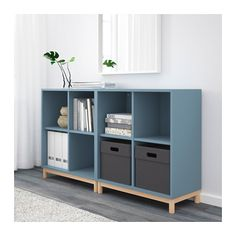 EKET Storage combination with legs - light blue - IKEA