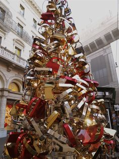 The FENDI Christmas tree in Rome, Italy