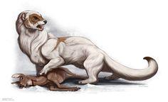 Giant Weasel For Paizo Publishing by Brynn Metheney
