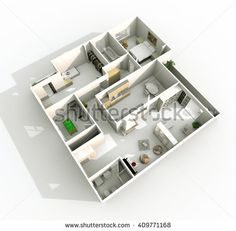 Illustrazione stock 409771168 a tema Interior Rendering Oblique Perspective View Perspective, Alarm Systems For Home, Home Security Tips, Architectural Section, Interior Rendering, White Ceiling, Architecture Office, Wood Interiors, Open Window