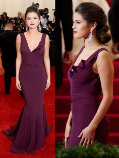 Diane Von Furstenberg DVF gown. Selena Gomez MET Gala 2014
