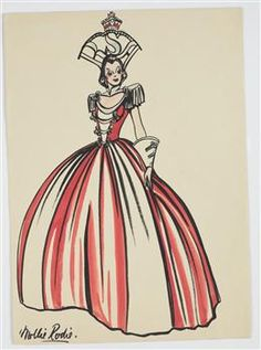 Costume design for Victory Queen Carnival, 'RSA' - Collections Online - Museum of New Zealand Te Papa Tongarewa