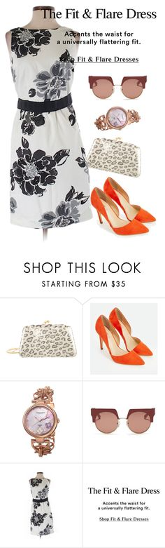 """dresd"" by masayuki4499 ❤ liked on Polyvore featuring Judith Leiber, JustFab, Akribos XXIV, Marni and Ann Taylor"