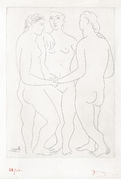 Available for sale from McClain Gallery, Pablo Picasso, The Three Friends Etching printed on ancient Japon, 16 × 11 in Picasso Prints, Picasso Sketches, York Art Gallery, Painting Prints, Art Prints, Three Friends, New York Art, Pablo Picasso, Art Forms