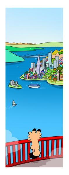 San Francisco, Laurel, Voici, Comme, Illustration, 3 D, Artwork, Rural Area, Comics