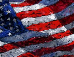 abstract american flag painting - Google Search
