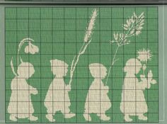 ru / Фото - Monocromбticos - samlimeq earth children with flowers Cross Stitch Needles, Cross Stitch Baby, Cross Stitch Flowers, Cross Stitch Charts, Cross Stitch Designs, Cross Stitch Patterns, Cross Stitching, Cross Stitch Embroidery, Embroidery Patterns