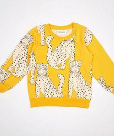 Mini Rodini Snow Leopard Sweatshirt Yellow