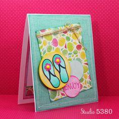 Enjoy flipflops2stamp/sandals4summer stamp set by The Stamps of Life