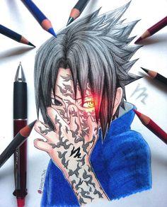 Art by: check his/her stuff! Naruto Shippuden Sasuke, Anime Naruto, Wallpaper Naruto Shippuden, Naruto Sasuke Sakura, Naruto Wallpaper, Naruto Art, Manga Anime, Sasuke Uchiha, Manga Art