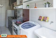 Apartamento decorado 2 quartos do Reserva Jardim no bairro Dias Macedo - Fortaleza - CE - MRV Engenharia - MRV Engenharia - Lavanderia.