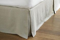 Custom-made bedskirt or valance using upholstery fabric & tailored to fit your bed.