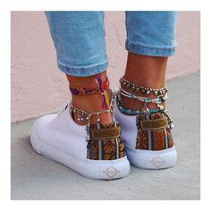 mentions J'aime, 26 commentaires – ▲▼ MIPACHA – Handmade Shoes ▼… - Accesories Foot Bracelet, Anklet Bracelet, Bracelets, Sterling Silver Anklet, Silver Anklets, Ankle Jewelry, Cute Jewelry, Anklet Designs, Estilo Hippy
