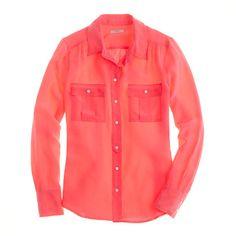 Blythe blouse in neon silk // J.Crew