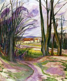 Landscape near Skøyen - Edvard Munch - 1920-1930