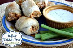 Mommy's Kitchen: Buffalo Chicken Rolls {Game Day Eats} #EverydayMarzetti #Football #GameDay