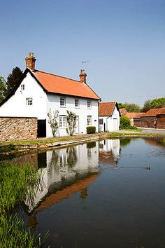 House and Duck Pond Bishop Burton East Riding of Yorkshire England, via Flickr.
