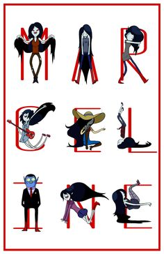Marceline the Vampire Queen M-A-R-C-E-L-I-N-E Printed on thick and glossy paper to keep it's rigidity. Adventure Time Marceline, Adventure Time Art, Be Like Meme, Pop Up Art, Vampire Queen, Art Styles, Pretty Art, Vampires, Anime Girls