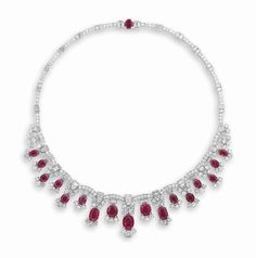 A RUBY AND DIAMOND NECKLACE | necklace, diamond | Christie's                                                                                                                                                                                 More
