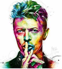 Watercolour tattoo,David Bowie.