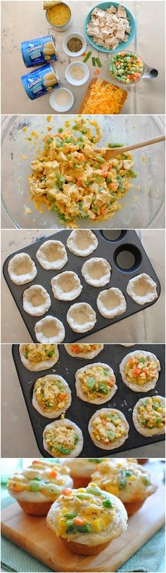 How To Make Mini Chicken Pot Pie Cupcakes | Food Blog