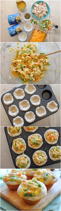 How To Make Mini Chicken Pot Pie Cupcakes
