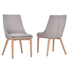 HomeSullivan Nobleton Grey Linen Dining Chair (Set of 2)