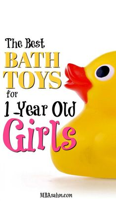 Bath toys for toddlers are a great gift idea and a perfect way to keep toddlers busy!  These are the best bath toys that you can find for 1-year old girls! #toddler #girl