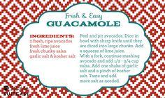 My Sister's Suitcase: Fresh & Easy Guacamole Recipe + Cinco De Mayo Printables!