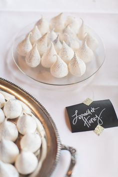 Lavender and Honey Glittered Meringues | Jessica Gold Photography | Vintage Chic Pink and Gold Glitter