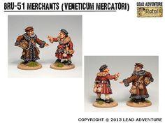 BRU-51 Merchants (Veneticum Mercatori) Medieval, Lead Adventure, Tabletop, Miniatures, Tips, Projects, Inspiration, Fictional Characters, Ideas