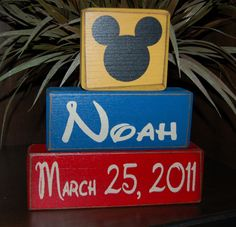 Mickey Mouse Ears PERSONALIZED Boy Children by SimpleBlockSayings, $30.95
