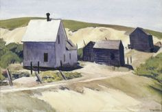 Lewis Farm, Edward Hopper Watercolor on paper, x in. The Chase Collection. Manet, Edouard Vuillard, American Realism, American Artists, Landscape Art, Landscape Paintings, House Paintings, Edward Hopper Paintings, Ashcan School