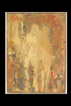 "Eugène Leroy - ""Couple"", 1952/60 - Oil on canvas - 100 x 73  cm (*)"