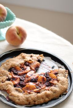 "Whole Wheat Blackberry Peach Galette... ""healthy"" desserts :)"