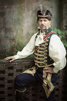 19th century Hussar costume, made by Angela Mombers. Picture made by Henk van Rijssen at Castlefest 2014, Lisse.