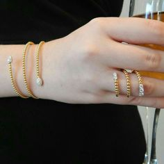 Yellow and White Gold Coil Flexible Snake Diamond Bangle Bracelet Featuring Carats Total Weight Round Cut Pave Set Diamonds. Gold Jewelry Simple, Modern Jewelry, Fine Jewelry, India Jewelry, Jewelry Sets, Bangle Box, Bangle Bracelets, Diamond Bangle, Diamond Jewelry