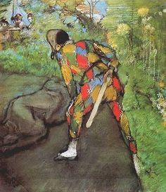 Edgar Degas, Harlequin  on ArtStack #edgar-degas #art