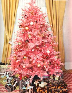 pink christmas tree by Karen Linkous-Parfitt Pink Christmas Tree, Christmas Time Is Here, Merry Little Christmas, Noel Christmas, Xmas Tree, Winter Christmas, All Things Christmas, Vintage Christmas, Christmas Decorations