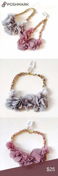 """Brand new Nordstrom chevron flower necklace Brand new beautiful chevron flower necklace from Nordstrom. Simple and gorgeous. About 15"""" long. Come in both gray and grayish pink colors. Nordstrom Jewelry Necklaces"""