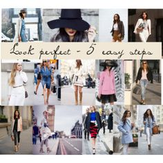 Look perfect - 5 easy steps Panama Hat, Shoe Bag, Easy, Polyvore, Stuff To Buy, Chanel, Shopping, Collection, Design