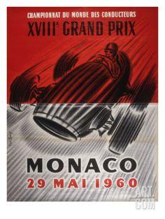 Monaco Grand Prix Poster Giclee Print at Art.com