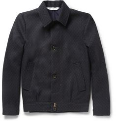 Our Legacy Patterned Woven-Wool Bomber Jacket   MR PORTER