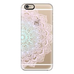 iPhone 6 Plus/6/5/5s/5c Case - Pastel Lace Mandala (€36) ❤ liked on Polyvore featuring accessories, tech accessories, phone, phone cases, electronics, iphone cases, iphone case, iphone cover case and apple iphone cases