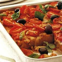 Polenta aux tomates et à la mozzarella