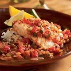Fish Veracruz. It's what's for dinner tonight!