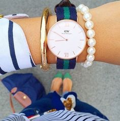 the perfect preppy watch! one of my favorites