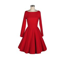 retro style red dress