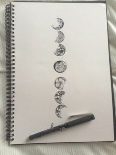 Spine tattoo of moon phases with personal detailed touch to each Et Tattoo, Piercing Tattoo, Piercings, Tattoo 2017, Tattoo Geometrique, Cool Tattoos, Tatoos, Alphonse Mucha, Future Tattoos